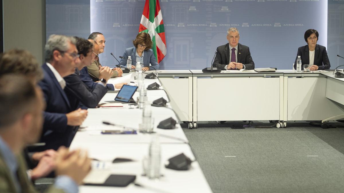 Reunión del LABI, presidido por el Lehendakari, Iñigo Urkullu. Foto: EP