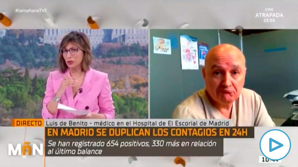 Un médico echa por tierra el empeño de TVE en atacar la gestión de la pandemia en Madrid.