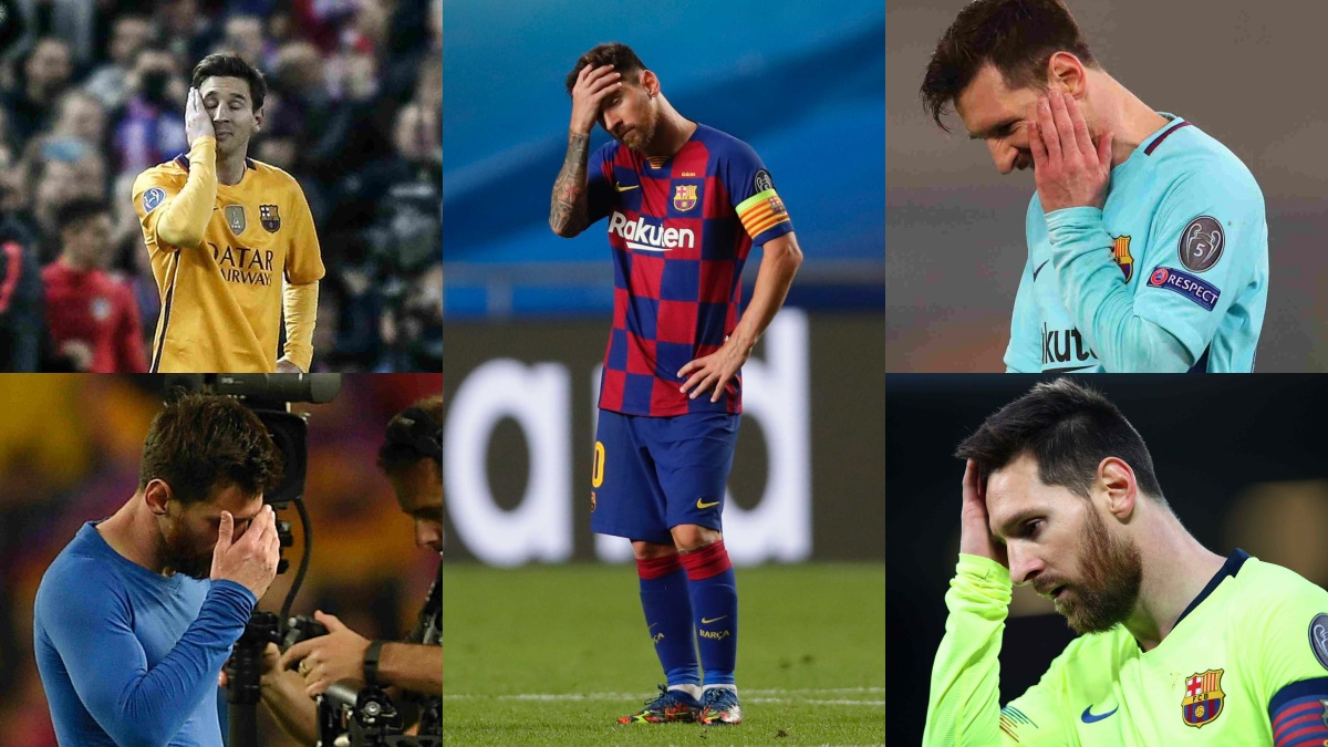 Ya es un clásico: la foto de Messi que se repite en Champions.