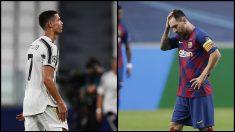 Cristiano y Messi no estarán en semifinales de la Champions. (AFP)