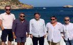 El presidente valenciano Puig y los ministros Duque y Escrivá juntos en Jávea sin mascarilla