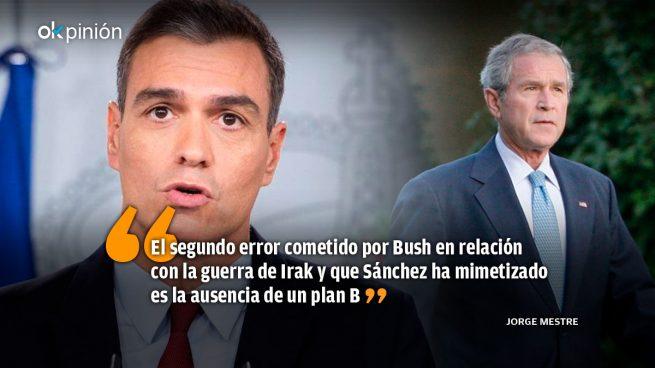 Sánchez plagiando a Bush