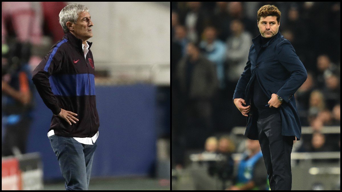 Setién está sentenciado y Pochettino es el favorito para suplirle en el banquillo del Barcelona. (AFP)