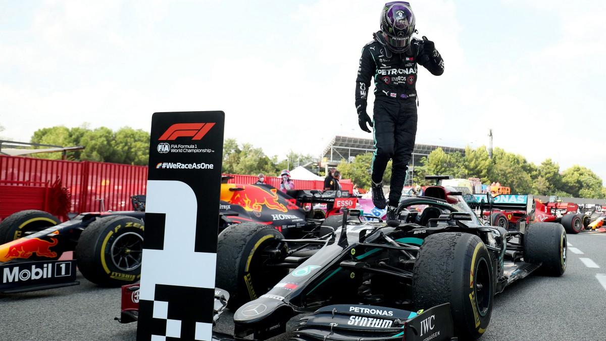 Hamilton se llevó la victoria en el GP de España de Fórmula 1. (AFP)