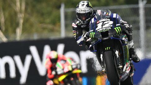 Maverick Viñales rueda en el GP de Austria. (AFP)