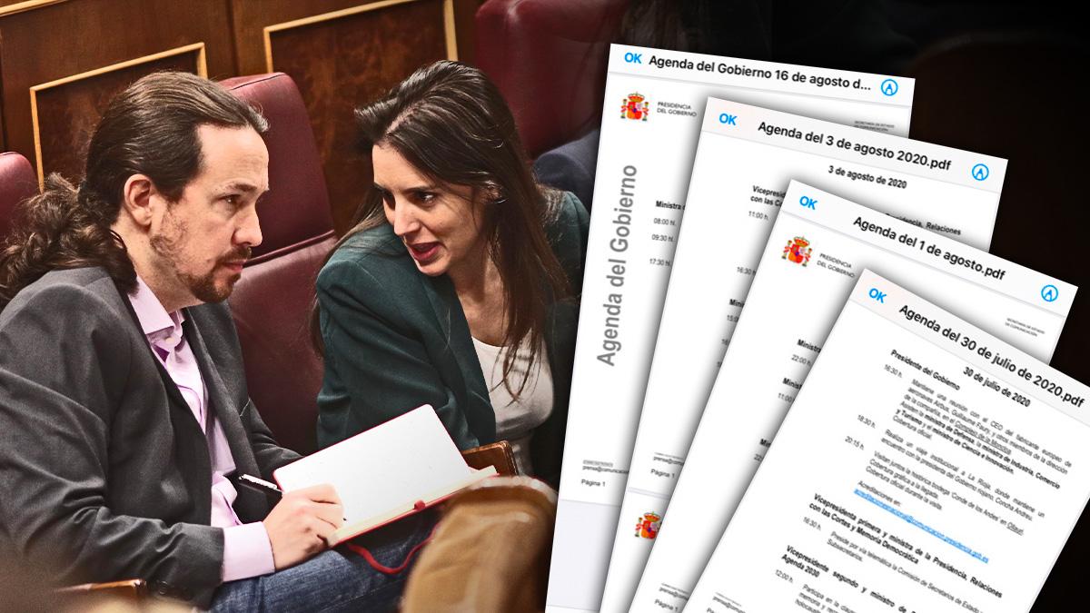 Iglesias y Montero en un pleno del Congreso de los Diputados.