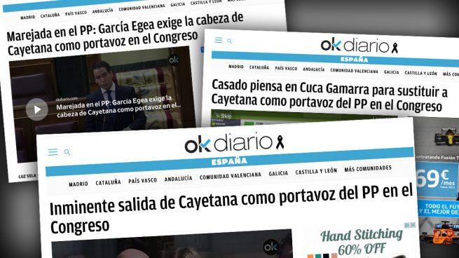 OKDIARIO avanzó el cese de Cayetana y su relevo por Cuca Gamarra en 3 exclusivas