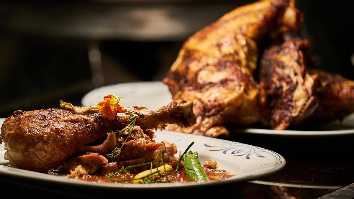 Pollo al horno con salsa de soja y miel
