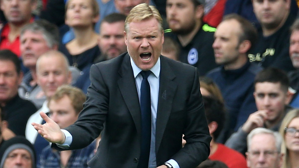 Ronald Koeman, en su etapa en el Everton. (Getty)