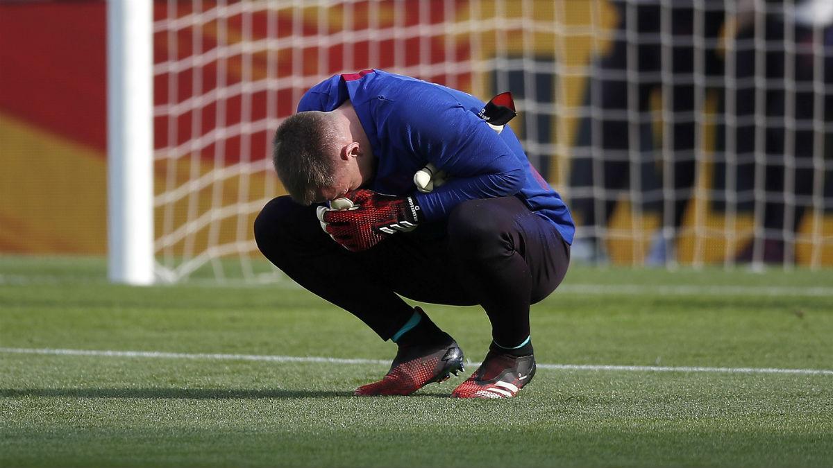 Ter Stegen, antes de un partido con el Barcelona. (Getty)