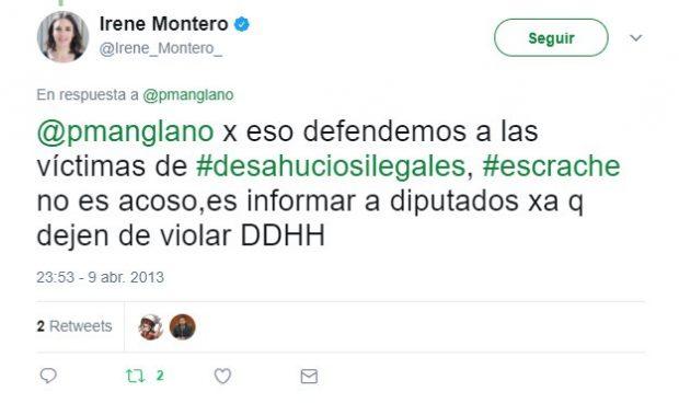 Iglesias se queja por la pintada de «coletas rata» tras afirmar que había que «naturalizar el insulto»
