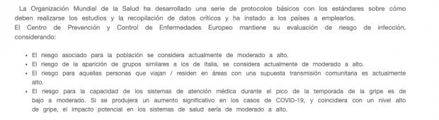 Montero admite que avaló el 8-M aunque tenía un informe de la OMS que alertaba del riesgo de las multitudes