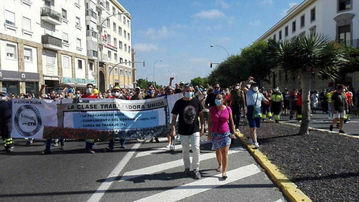 Cádiz.- Adelante Cádiz apoya a la plantillas de Navantia Puerto Real porque «la Bahía está muerta sin industria»