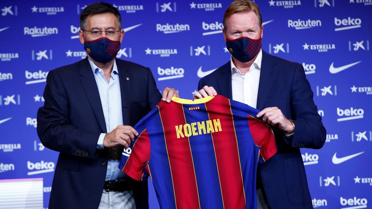 Ronald Koeman fue presentado como entrenador del Barcelona. (EFE)
