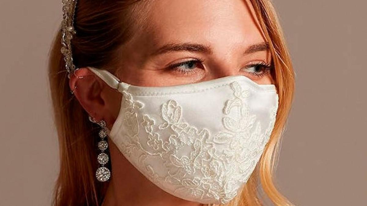 Las bodas en época de coronavirus requieren mascarillas acordes a un día tan especial