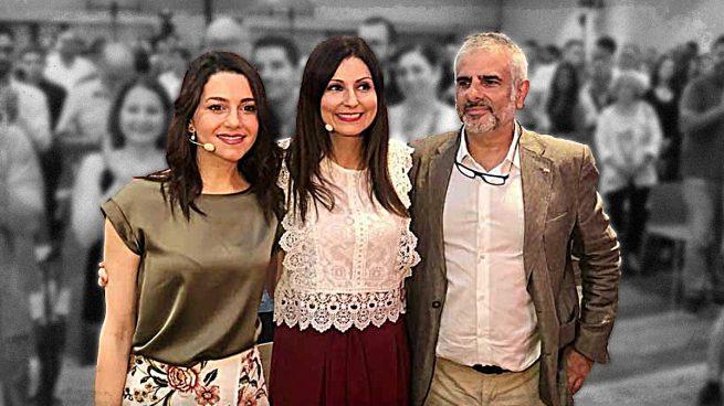 Inés Arrimadas, Lorena Roldán y Carlos Carrizosa.