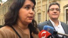 El portavoz de Cs en el Ayuntamiento de Logroño, Julián San Martín, y la ex concejal María Luisa Alonso.