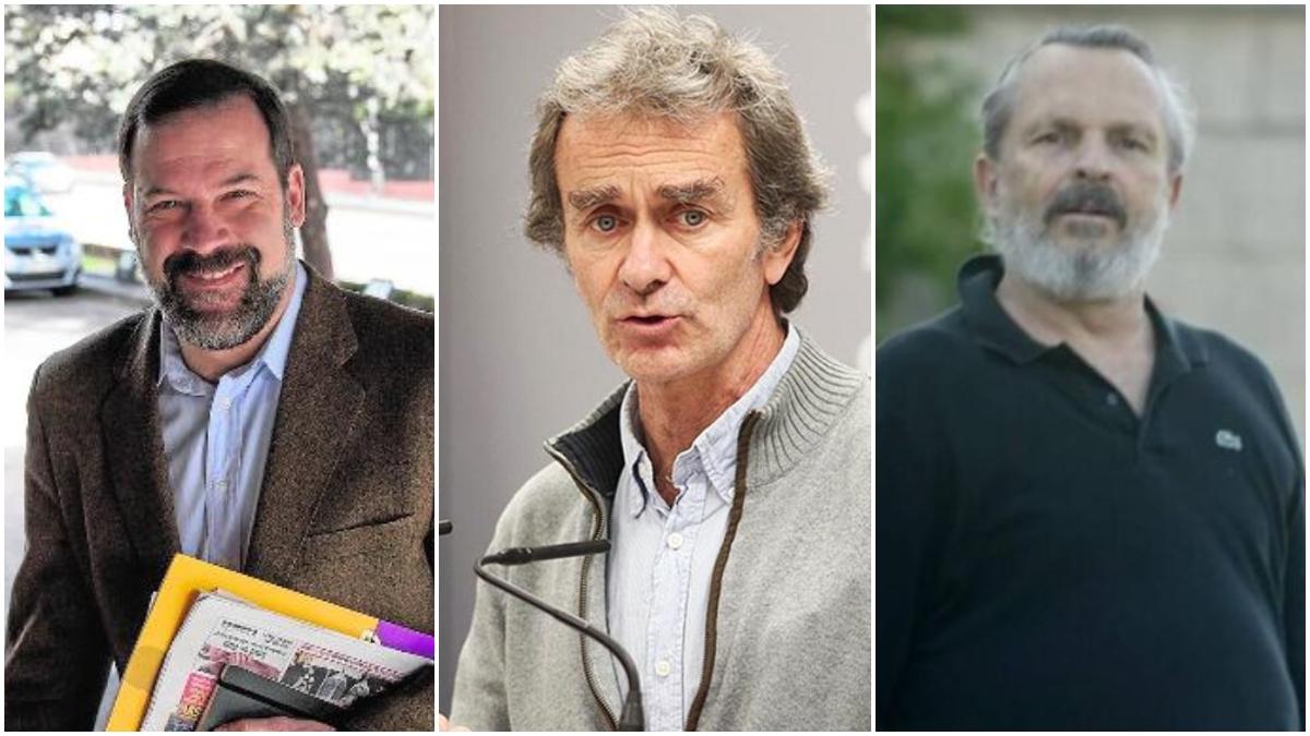 Alfonso Reyes, Fernando Simón y Miguel Bosé.