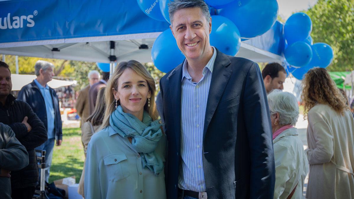 Xavier García Albiol con Cayetana Álvarez de Toledo. Foto: EP