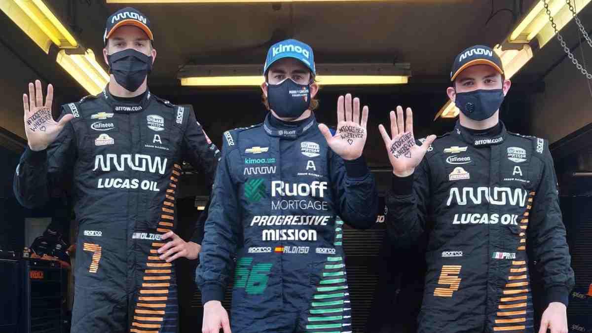 Fernando Alonso en Indianápolis. (@alo_oficial)