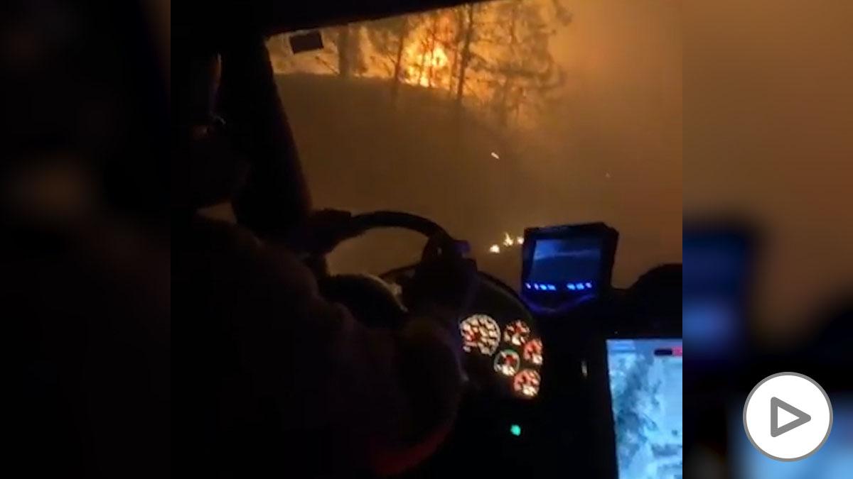 Así se ve el devastador incendio de California desde dentro
