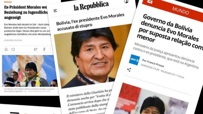 CNN, BBC y medios de todo el mundo se hacen eco de la relación pedófila de Evo Morales destapada por OKDIARIO