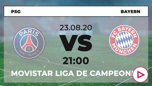 PSG – Bayern de Múnich: hora y ver en directo por TV la final de la Champions League.