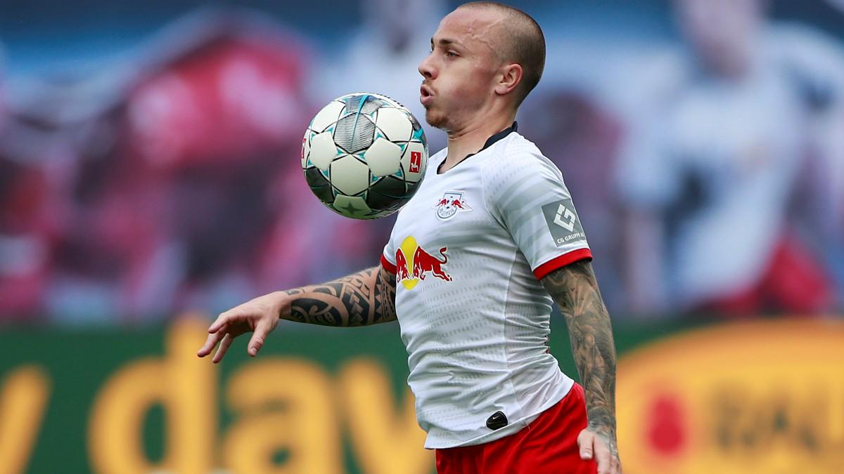 Angeliño durante un partido con el RB Leipzig. (AFP)