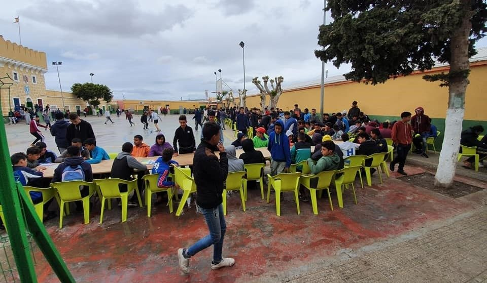 Menores en el centro de acogida de Melilla.