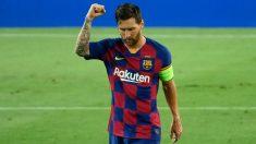 Leo Messi, durante un partido del Barcelona. (AFP)