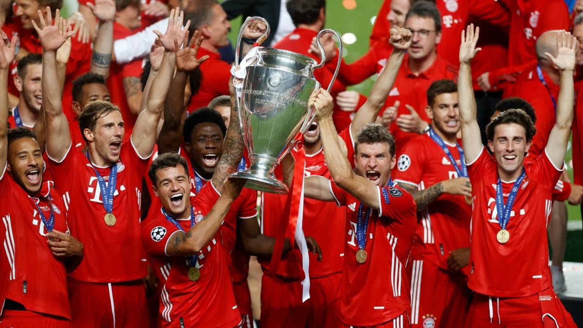 Los jugadores del Bayern de Múnich celebran su sexta Champions League. (Getty)