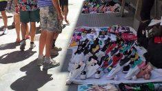 Manteros en Cádiz.