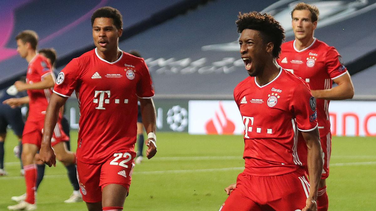 Coman celebra su gol a la final. (AFP)