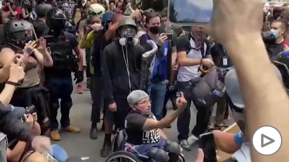 Noche de protestas en EEUU