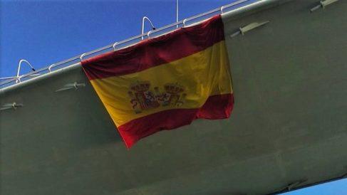 Despedida de Elcano en la Bahía de Cádiz.