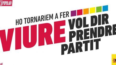 Cartel de la campaña de la CUP por el referéndum del 1-O.