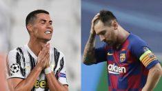 Cristiano Ronaldo y Messi ven peligrar su dominio.