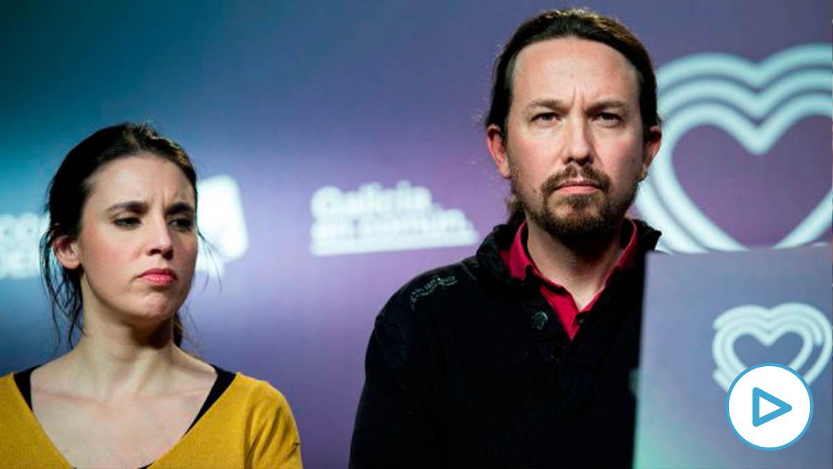 Pablo Iglesias e Irene Montero, tras conocer los resultados de las elecciones del 10-N.