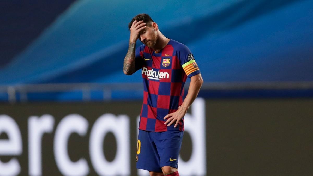 Messi, tras el Barcelona-Bayern de Champions (AFP).