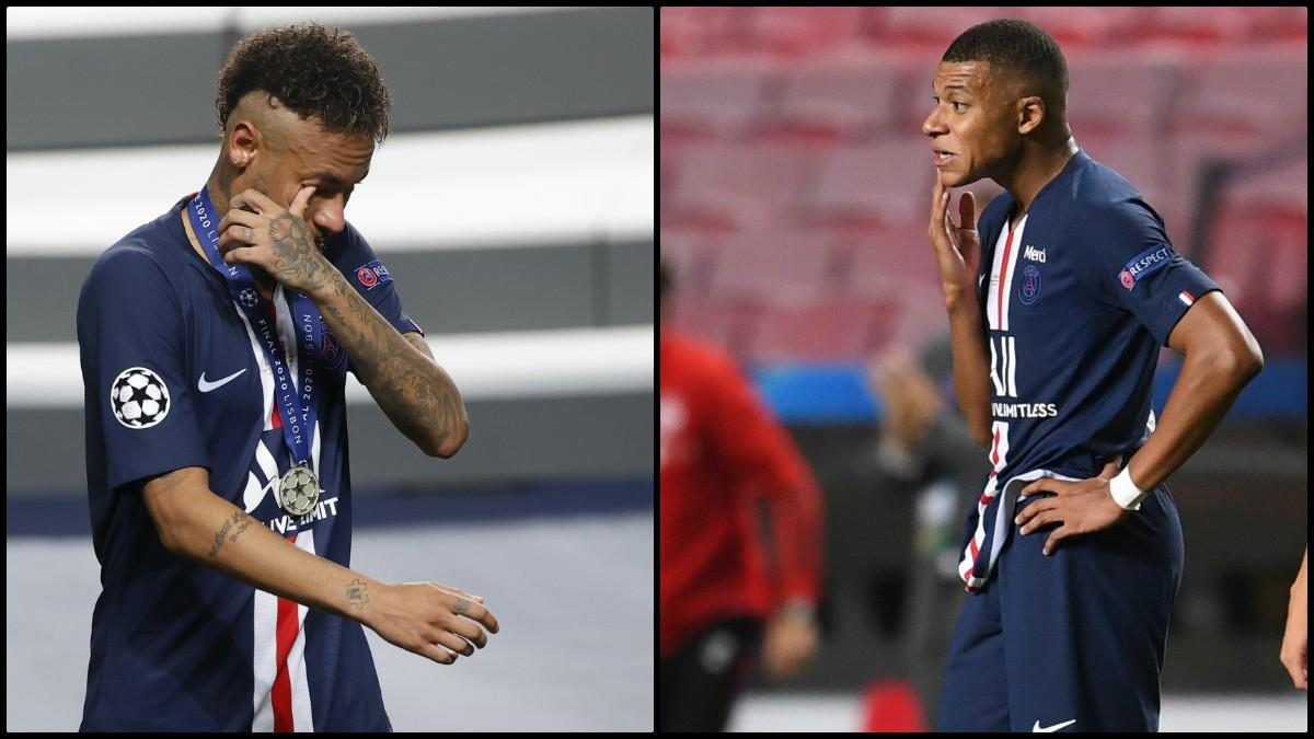 Neymar y Mbappé. (AFP)