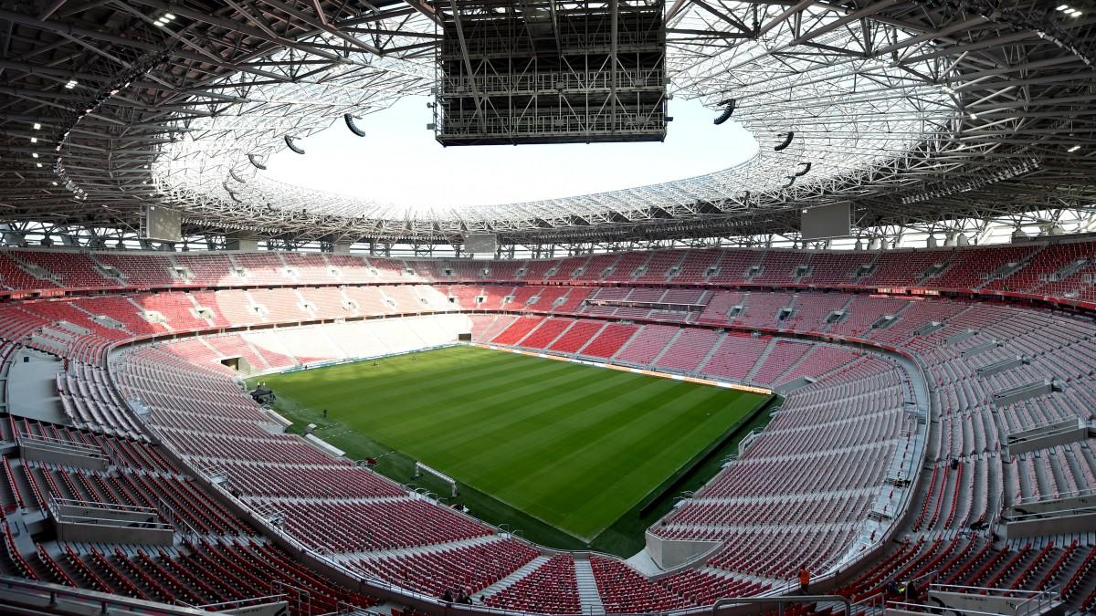 El Puskas Arena, lugar de celebración de la Supercopa de Europa. (AFP)