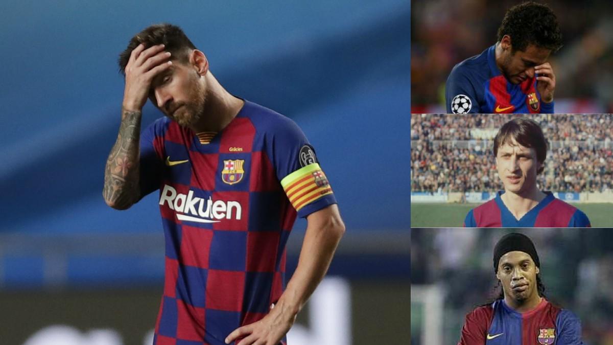 Messi se une a los otros cracks que dejaron el Barça por la puerta de atrás.