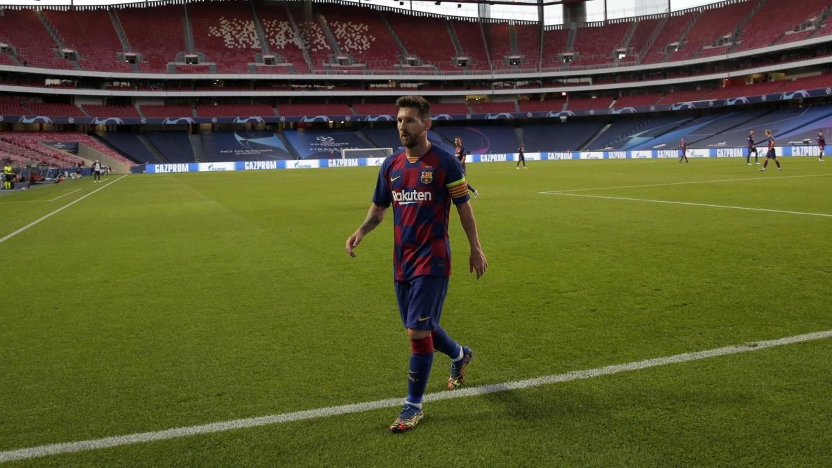 Messi, tras el partido ante el Bayern. (Getty)
