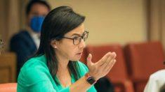 La diputada del PP, Ana Vázquez Blanco, durante su intervención en el Diputación Permanente del Congreso