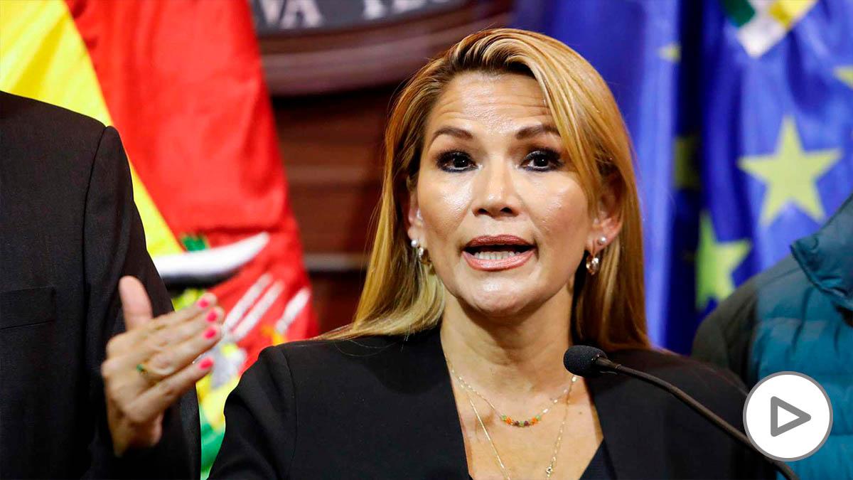 La presidenta de Bolivia, Jeanine Áñez.