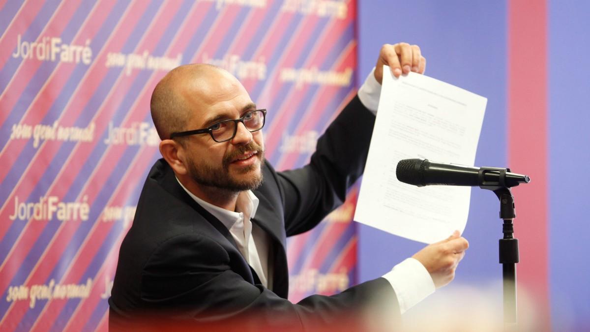 Jordi Farré, precandidato a la presidencia del Barcelona. (Europa Press)