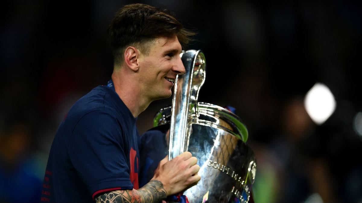 La leyenda de Messi- se va del Barcelona con 34 títulos en 20 años. (Getty)