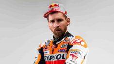 Leo Messi con el Repsol Honda Team. (@HRC_MotoGP)
