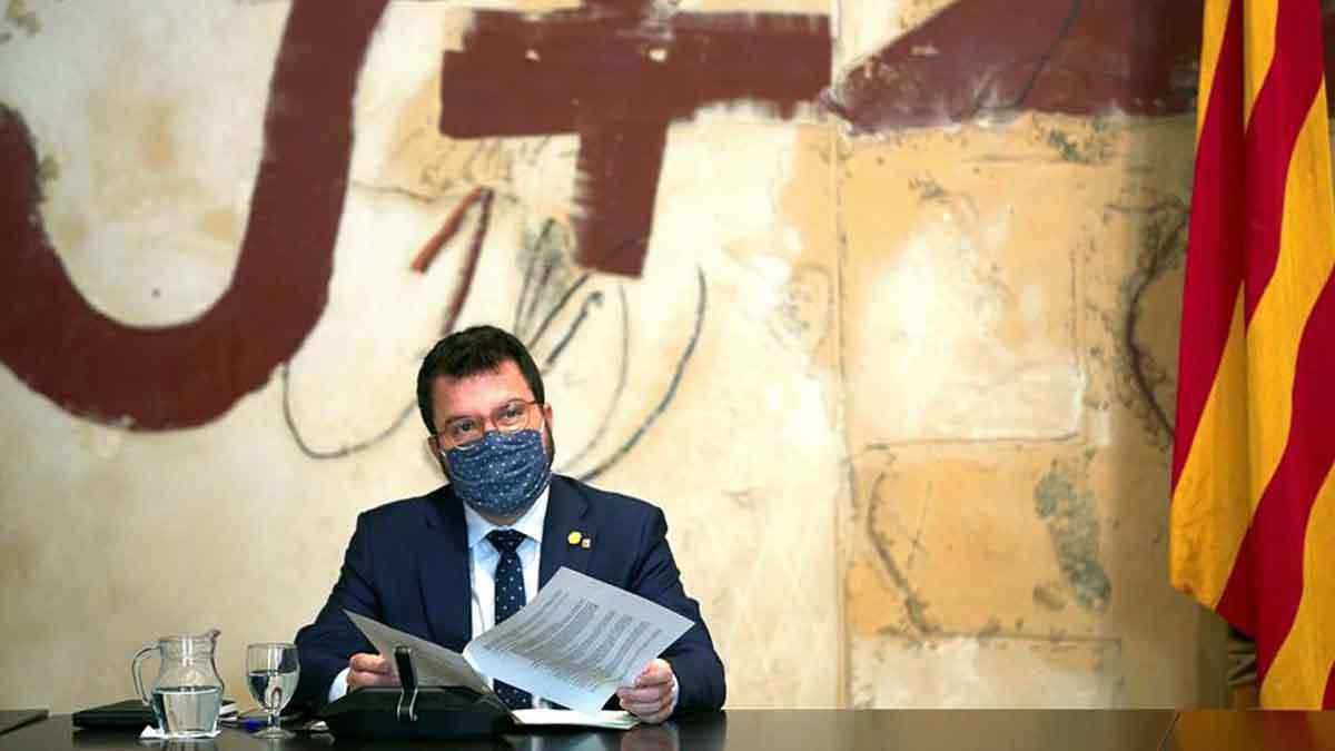 El presidente en funciones del Govern y candidato de ERC, Pere Aragonès (Foto: EFE).