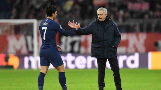 Son y José Mourinho